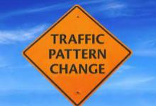 Traffic pattern change