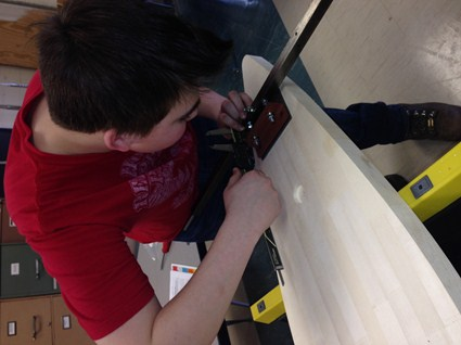 Day 3 - Using calipers to help level the rear axle