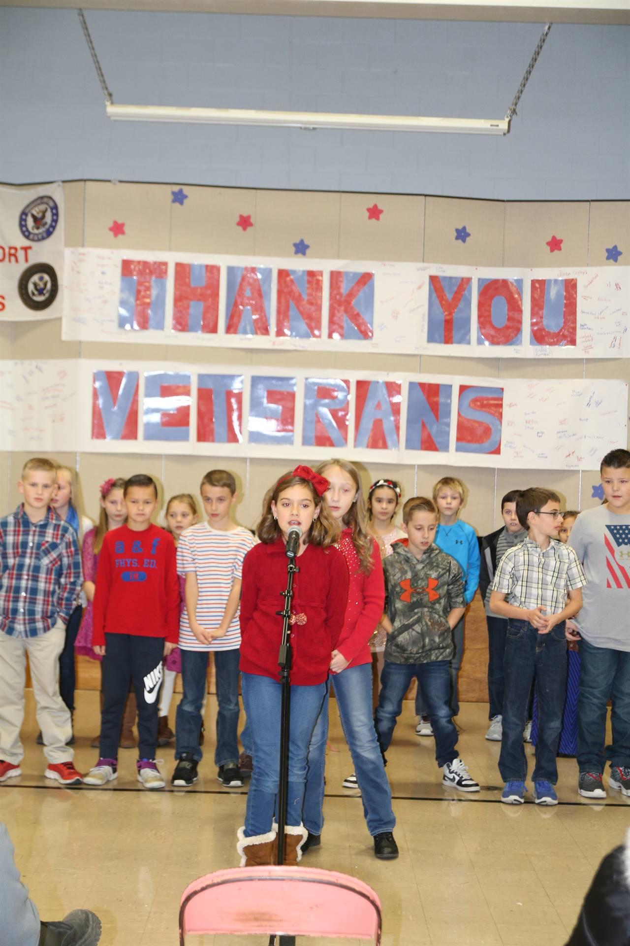 Veterans Day Program at FES