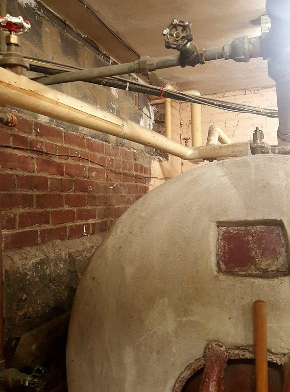 SAMS asbestos lined water tank