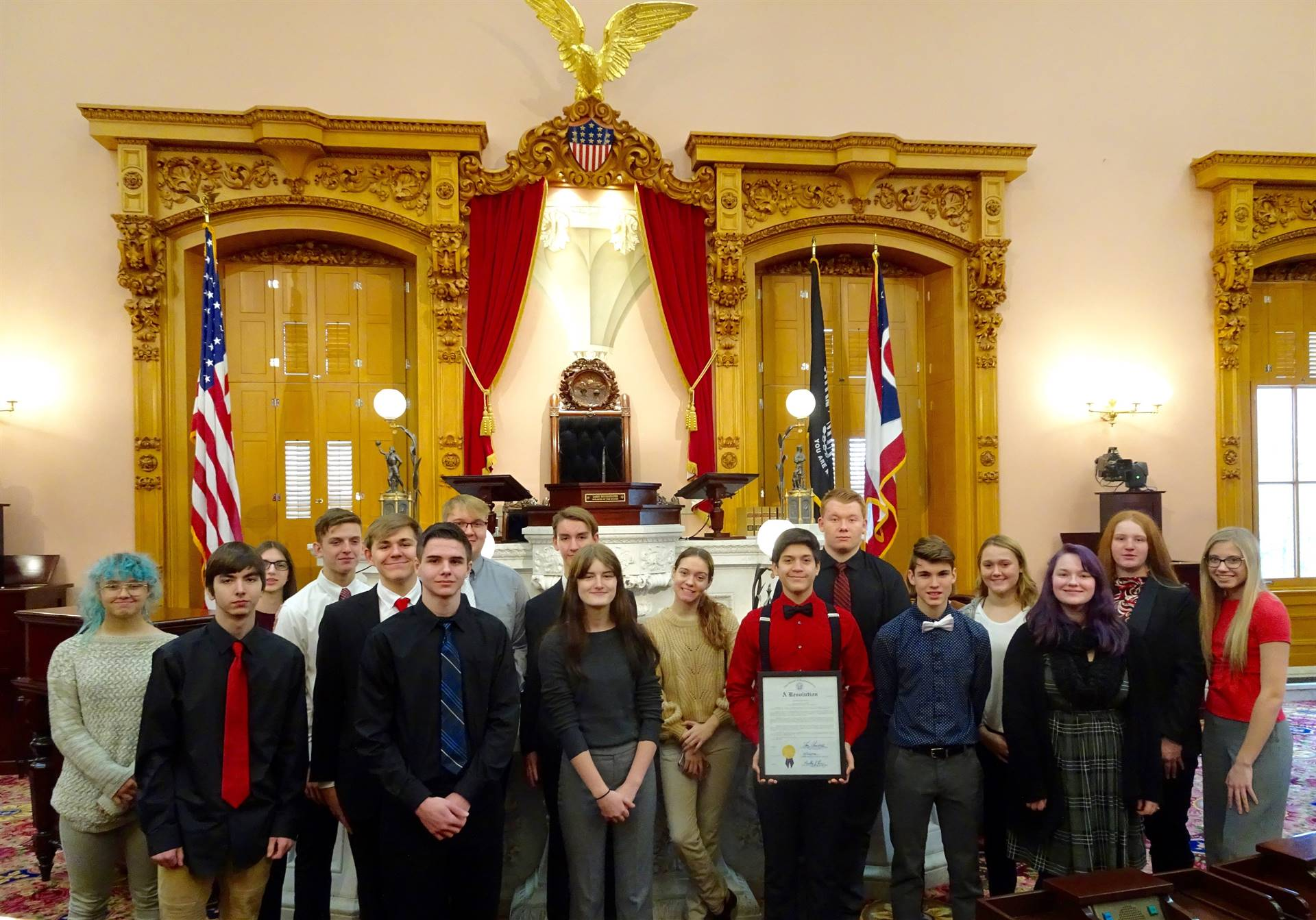 ART students at Statehouse